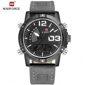 Navi Force Jam Tangan Analog Digital Pria - 9095 - Gray