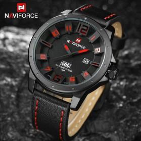 Navi Force Jam Tangan Analog Pria - 9061 - Black/Red - 5