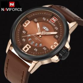 Navi Force Jam Tangan Analog Pria - 9086 - Brown/Gold - 3