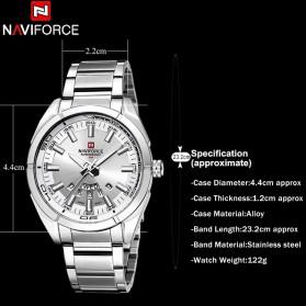Navi Force Jam Tangan Analog Pria - 9038 - Silver - 7
