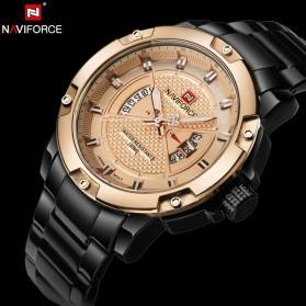 Navi Force Jam Tangan Analog Pria - 9085 - Black Gold