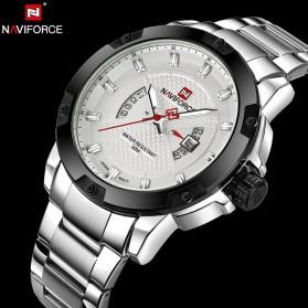Navi Force Jam Tangan Analog Pria - 9085 - White