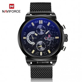 Navi Force Jam Tangan Analog Pria - 9068 - Black/Yellow