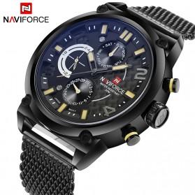 Navi Force Jam Tangan Analog Pria - 9068 - Black/Yellow - 6