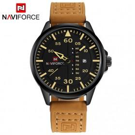 Navi Force Jam Tangan Analog Pria - 8106 - Yellowish Brown