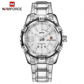 Navi Force Jam Tangan Analog Pria - 9117 - Silver