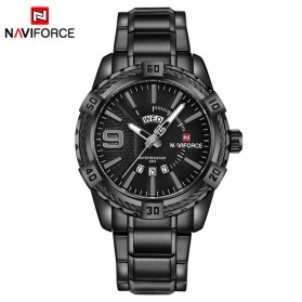 Navi Force Jam Tangan Analog Pria - 9117 - Black