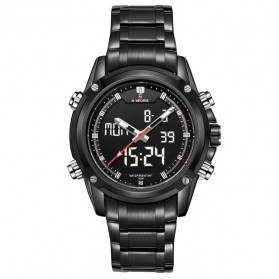 Navi Force Jam Tangan Analog Digital Pria - 9050 - Black