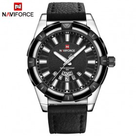 Navi Force Jam Tangan Analog Pria - 9118 - Black White