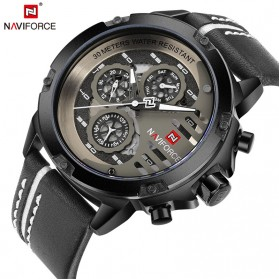Navi Force Jam Tangan Analog Army Pria - 9110 - Black White - 1
