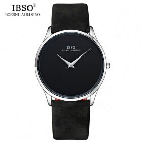 IBSO Jam Tangan Analog Pria Ultra Thin - B2219G - Black