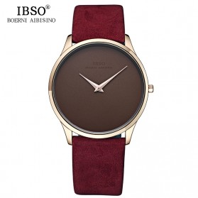IBSO Jam Tangan Analog Pria Ultra Thin - 2219 - Red