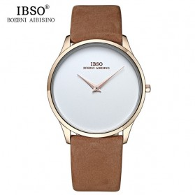 IBSO Jam Tangan Analog Pria Ultra Thin - B2219G - Brown