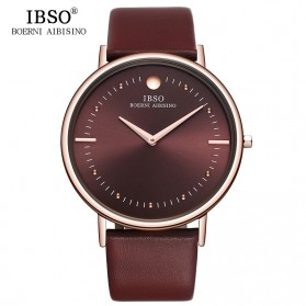 IBSO Jam Tangan Analog Pria Ultra Thin - 16151G - Red