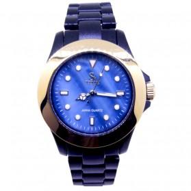 SK TIME Jam Tangan Elegan - SK3034a - Dark Blue - 1