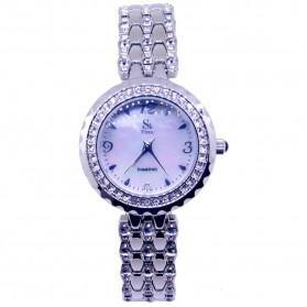 SK TIME Jam Tangan Analog Diamond - SK05 - Silver