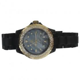 Trend Fashion Pria Terbaru - SK TIME Jam Tangan Analog Dial Rhinestone - SK08 - Black