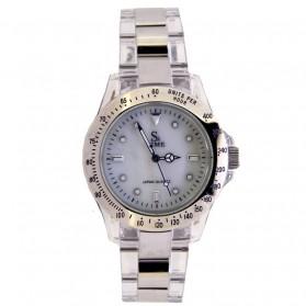 SK TIME Jam Tangan Elegan Pria - SK3018 - White/Silver - 1
