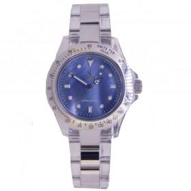 SK TIME Jam Tangan Elegan Pria - SK3018 - Silver Blue