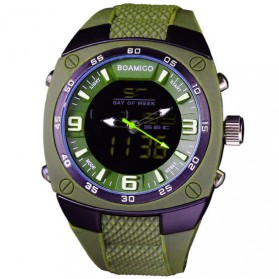 BOAMIGO Jam Tangan Analog Digital Pria - F-602 - Army Green