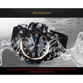 BOAMIGO Jam Tangan Analog Digital Pria - F-502 - Black Gold - 7
