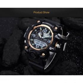 BOAMIGO Jam Tangan Analog Digital Pria - F-502 - Black Gold - 8