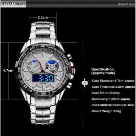 BOAMIGO Jam Tangan Analog Digital Pria - F-904 - Silver - 3