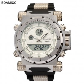 BOAMIGO Jam Tangan Analog Digital Pria - F-101 - White - 1