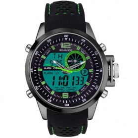 BOAMIGO Jam Tangan Analog Digital Pria - F-533 - Black/Green