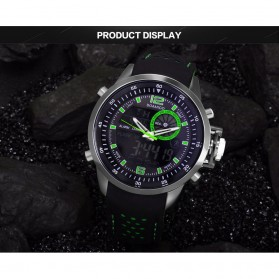 BOAMIGO Jam Tangan Analog Digital Pria - F-533 - Black/Green - 3