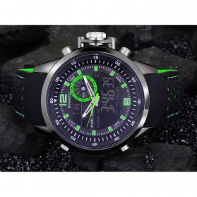 BOAMIGO Jam Tangan Analog Digital Pria - F-533 - Black/Green - 4