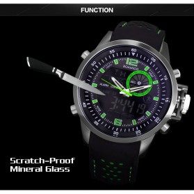 BOAMIGO Jam Tangan Analog Digital Pria - F-533 - Black/Green - 5
