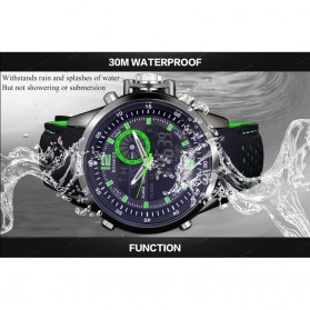 BOAMIGO Jam Tangan Analog Digital Pria - F-533 - Black/Green - 6