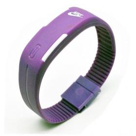 Jam Tangan LED Gelang Sport Nikey - Purple