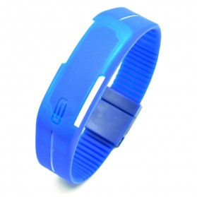 Jam Tangan LED Gelang Sport No Logo - Dark Blue