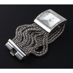 Girl Fashion Stylis Bracelet Quartz Watch - Silver
