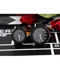 Hongc Unique Woman Quartz Analog Leather Strap Watch - A123GI - Black - 3