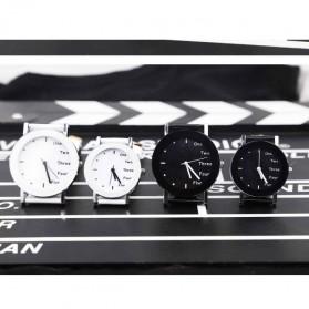 Hongc Unique Woman Quartz Analog Leather Strap Watch - A123GI - Black - 4