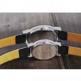 Hongc Unique Woman Quartz Analog Leather Strap Watch - A123GI - Black - 6