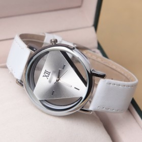 Jam Tangan Triangle Quartz - YQ007 - White
