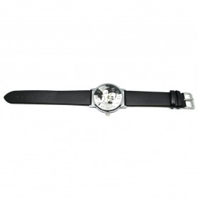 Mickey Mouse Children Watch Leather Strap - Black - 4