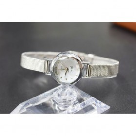 Jam Tangan Fashion Wanita Analog Stainless Steel - Silver - 2