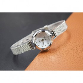 Jam Tangan Fashion Wanita Analog Stainless Steel - Silver - 3