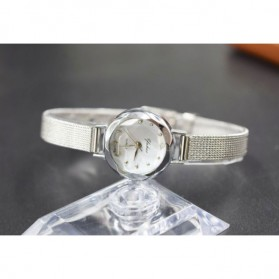 Jam Tangan Fashion Wanita Analog Stainless Steel - Silver - 4