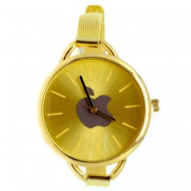 Jam Tangan Wanita Logo Apple - Golden