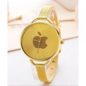 Jam Tangan Wanita Logo Apple - Golden - 2