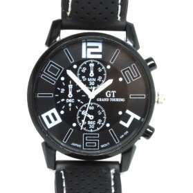 Fashion Men Sport Watch Silicone Strap - PL-106 - Black