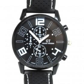 Fashion Men Sport Watch Silicone Strap - PL-106 - Black - 1