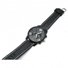 Fashion Men Sport Watch Silicone Strap - PL-106 - Black - 2