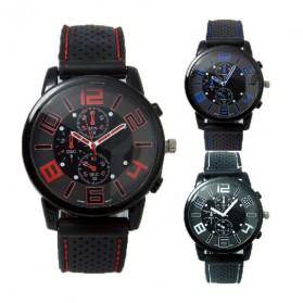 Fashion Men Sport Watch Silicone Strap - PL-106 - Black - 3